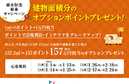 統合記念新春キャンペーン<br /> オプションポイントプレゼント